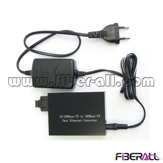 10/100m Fiber Optic Media Converter 1310nm 1X9 mm 2km External pictures & photos