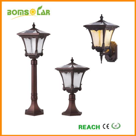 Aluminium Solar Garden Light Outdoor, Solar Lamp Post Bright, Solar Pillar Light, Solar Column Light and Solar Wall Light
