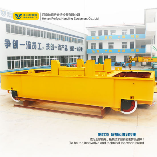 100 Ton Steel Ladle Rail Mounted Transfer Car Self-Driven Trolley pictures & photos