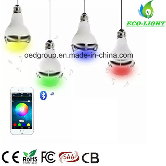 Dimmable E27 Smart Color APP Control 6W LED Bluetooth RGB Music Bulb