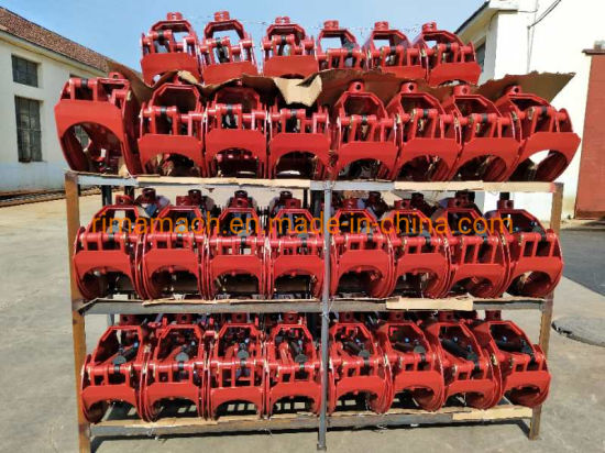 Ce-Approved Hydraulic Timber Wood Log Grapple for Crane