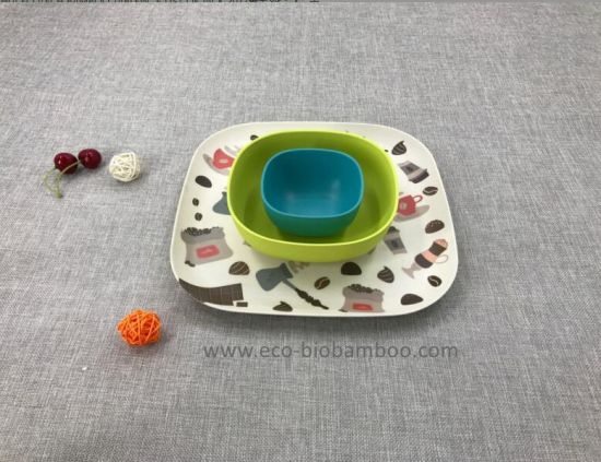 SGS Approved Hot-Sell Natural Bamboo Fiber Dinnerware Bowl Set (YK-S4043) pictures & photos