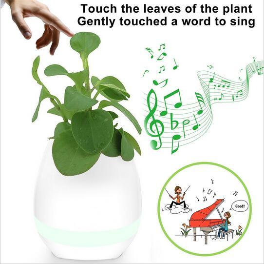 Smart Bluetooth Music Speaker with Light Touch Plant Flower Pots pictures & photos