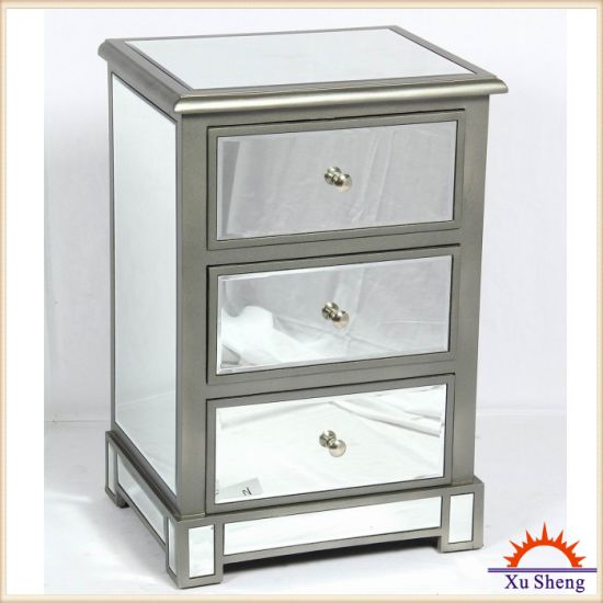 3-Drawer Mirrored Accent Chest pictures & photos