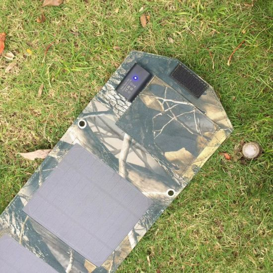 15W Foldable Solar Panel USB Portable Mobile Phone Car Battery Folding Solar Charger High Technology pictures & photos