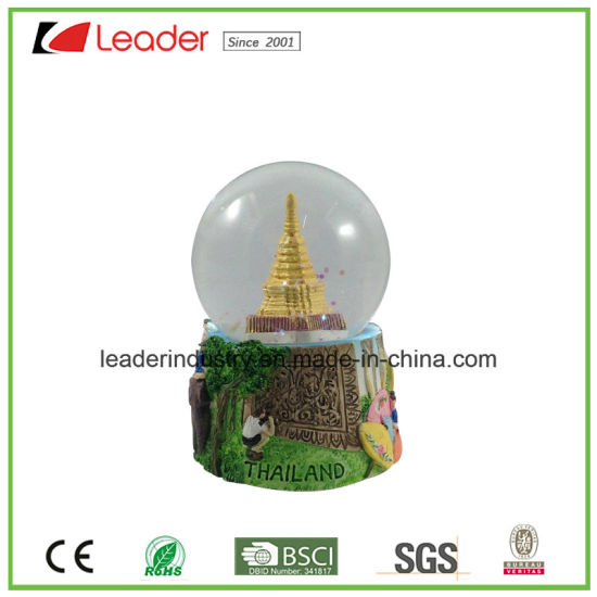 Customized Water Globe with 60mm for Promotional Gift and Home Decoration, Made of Polyreisn pictures & photos