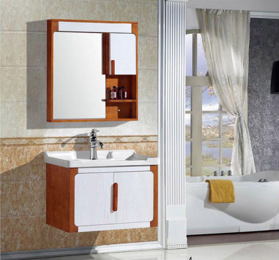 Warm Bathroom Vanity Oak Wood Cabinet Bathroom Furniture 8008