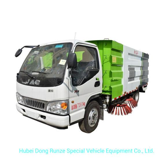 JAC 5cbm Mechanical Road Sweeper 4m3 Dustbin, 1.5m3 Clean Water Tank