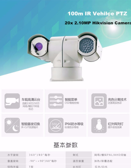 30X 2.0MP 100m Night Vision IR HD IP PTZ Camera pictures & photos