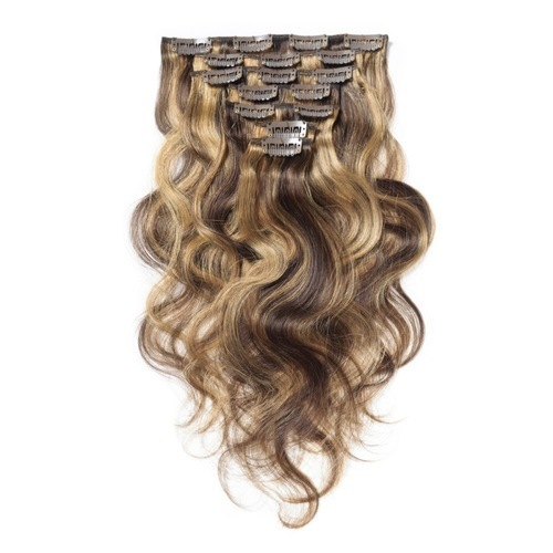 """14""""-20"""" Clip in Hair Extensions Best Quality Virgin Remy Human Hair Multi Piano Colors #4/10/27 Body-Wave 7PCS Good Hair Ratio Thick Hair End Factory Wholesale"""