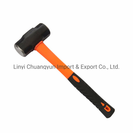 2lb Double Face Sledge Lump Hammer With TPR Fibreglass Handle Building