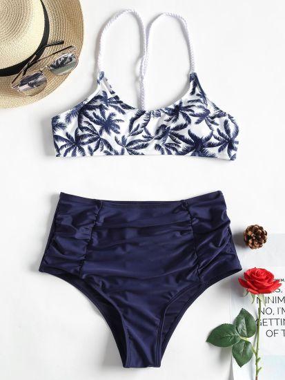 1747a38b068 Sexy Brazilian Bikinis Women High Neck Rainbow Swimwear Swimsuit Push up