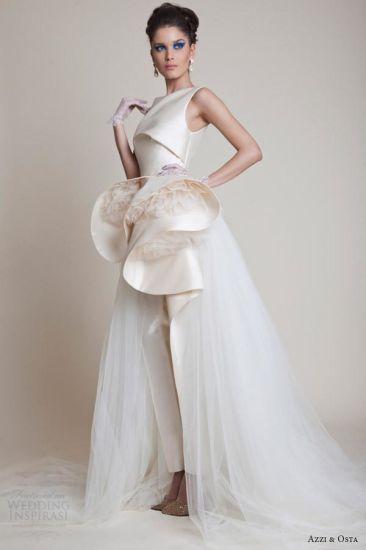China Zuhairmurad Bridal Ball Gown Tulle Satin Pants Wedding