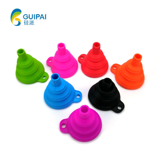 Silicone Collapsible Funnel Cooking Tools Flexible Hopper for Oil Liquid pictures & photos