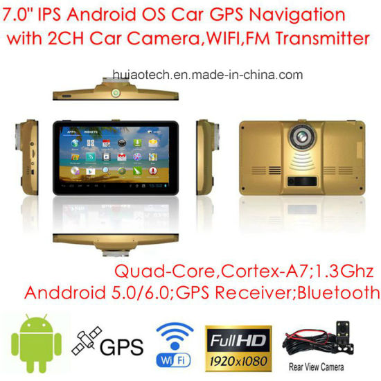 New 7.0inch Android 6.0 Quad-Core Car Tablet PC with GPS Navigation, 2CH Car DVR, Parking View Camera,FM-Transmitter,Bluetooth,Dash Video Recorder Camera;WiFi pictures & photos