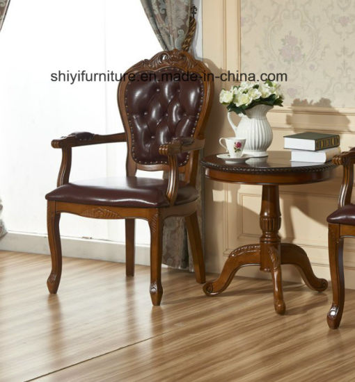 Antique Dining Round Table and Chair Set pictures & photos