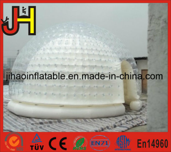 Customized Size Inflatable White Double Bubble Tents for Event pictures & photos