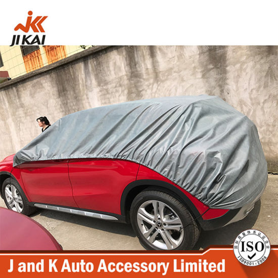 190t 4.05*2.3m Waterproof Sun Protection Universal Half Top Car Cover