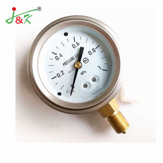 ISO Certification Pressure Gauge Manometer for Exporting with Accuracy 1.5%