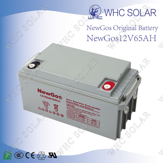 Deep Cycle Solar Battery 12V 65ah Lead Acid Battery pictures & photos