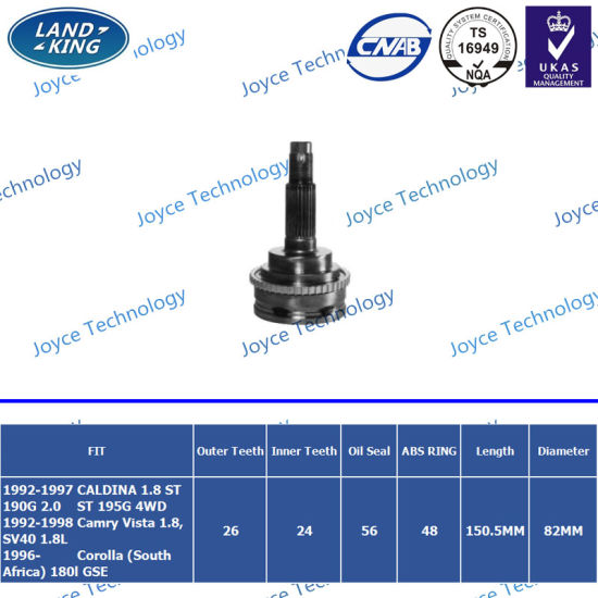 OEM Professional Auto Parts Factory Constant Velocity Universal Joint for Toyota Corolla (South Africa)