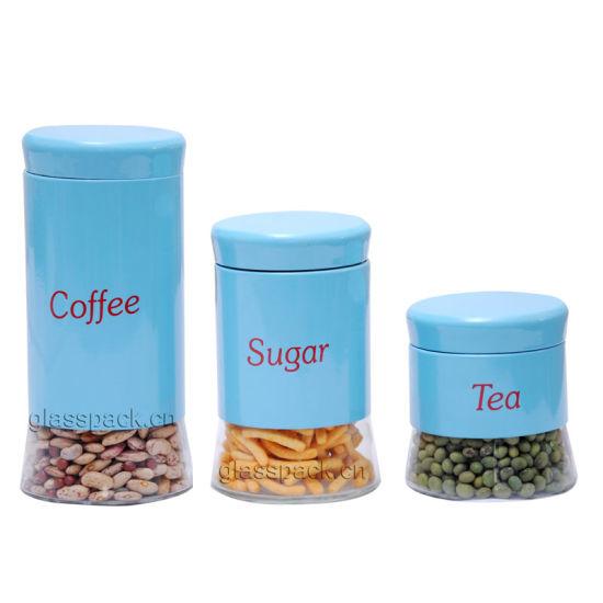 China Tea Coffee Sugar Kitchen Storage Canisters Jars Pots ...