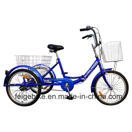 "Cheap 20""/24"" Steel Trike /Three Wheel Folded Bike Tricycle (FP-TRCY034) pictures & photos"