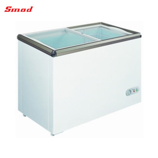 China Flat Sliding Glass Door Chest Freezer Display Showcase China