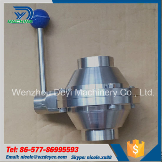 Sanitary Stainless Steel Butterfly -Type Weld Ball Valve pictures & photos