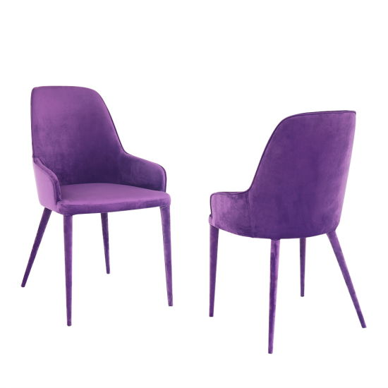Wholesale Modern Metal Fabric Dining Chair for Hotel Home