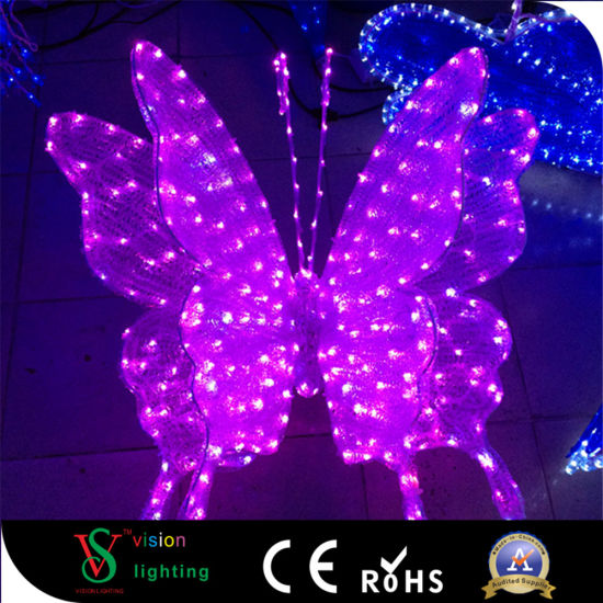 LED 3D Butterfly Motify Light with Decoration Light