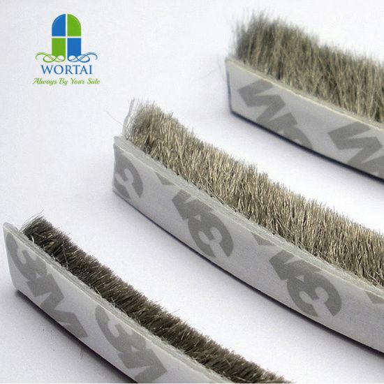 China 3m Self Adhesive Wool Pile Weather Strip Woven Brush