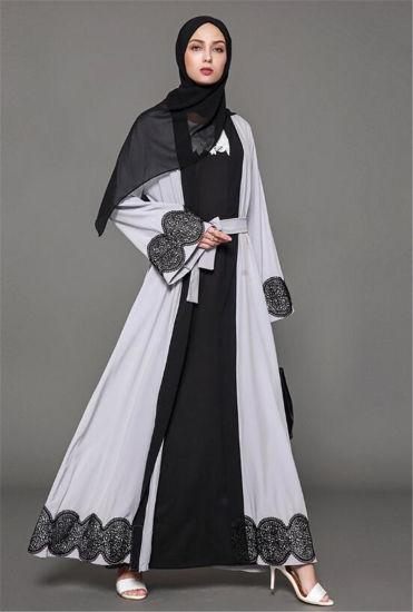 China 2018 Muslim Royal Fashion Women Clothes Lace Dress Abaya