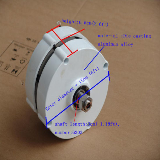 12V/24V 100W Permanent Magnet Generator with Controller pictures & photos