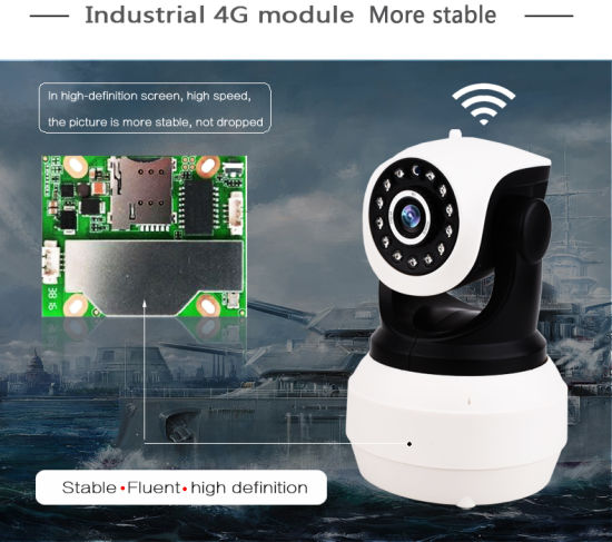 Toesee 1.0MP HD Wireless 3G 4G SIM Card Camera 720p Smart IP WiFi Camera with Battery pictures & photos