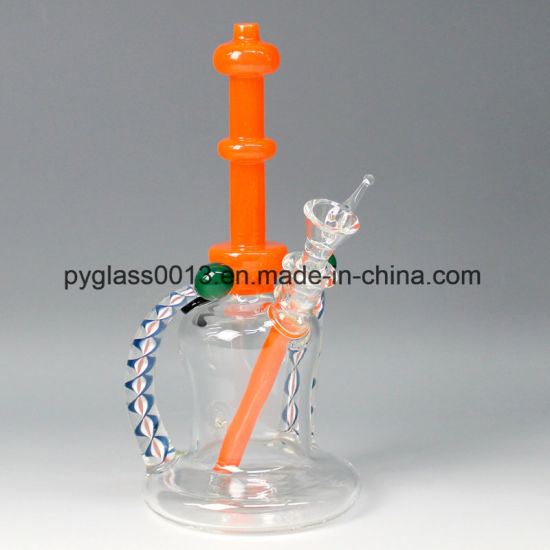 Wonderful Design Glass Water Smoking Pipe with USA Color