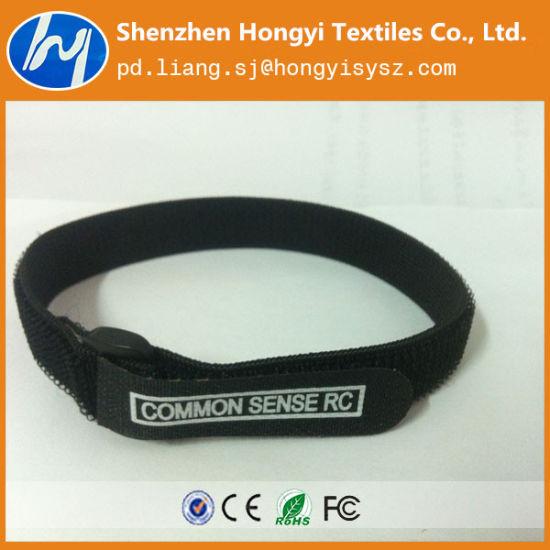 Adjustable Customized Elastic Hook & Loop Strap with Plastic Buckle