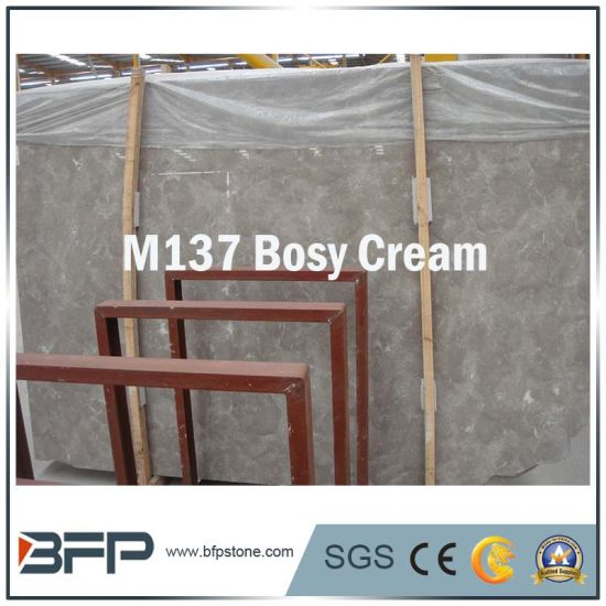 China Polished Bosy Cream Marble Slabs For Floorwall Tiles Stairs