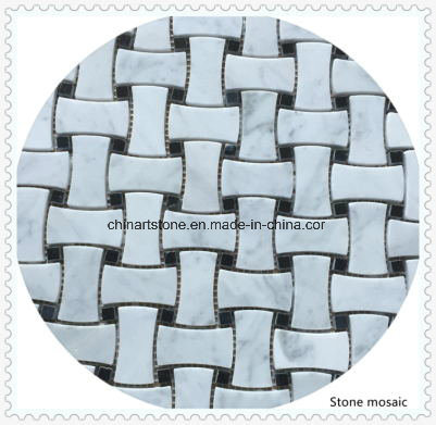 Nature Stone White Marble Mosaic for Bathroom Tile pictures & photos