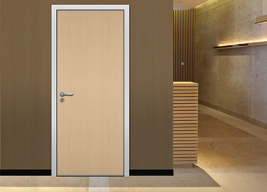 China Double Main Door Design Plain Solid Wood Doors
