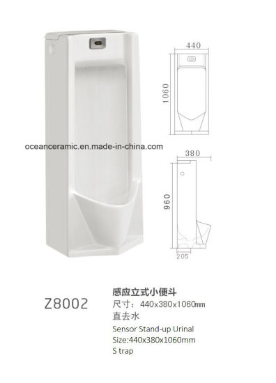 Z8001 Stand-up Sensor Ceramic Urinal, Public Urinal, Washdown Type pictures & photos