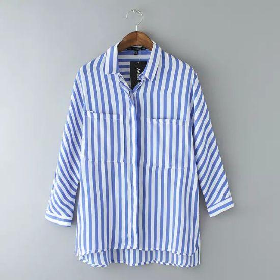38e629e083 China Long Sleeve Loose Shirt Style Fat Women Blouse - China Blouse ...