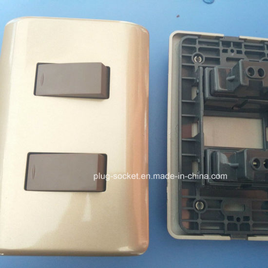 6A 250V/10A 127V 2 Gang 2 Way / 2gang 1way Wall Switch (W-098) pictures & photos