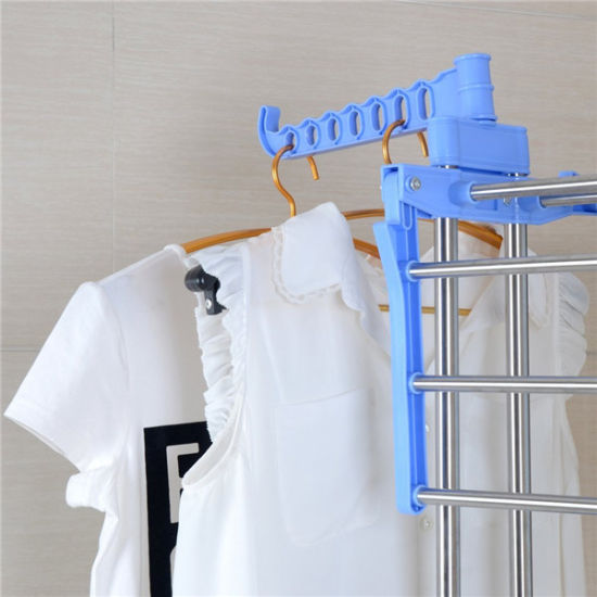 China Foldable Three Layer Stainless Steel Clothes Drying Rack JP