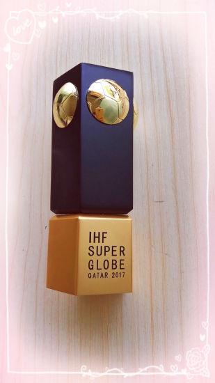 China Aluminum CNC Metal Award Medal Customized Ihf Super Globe ...