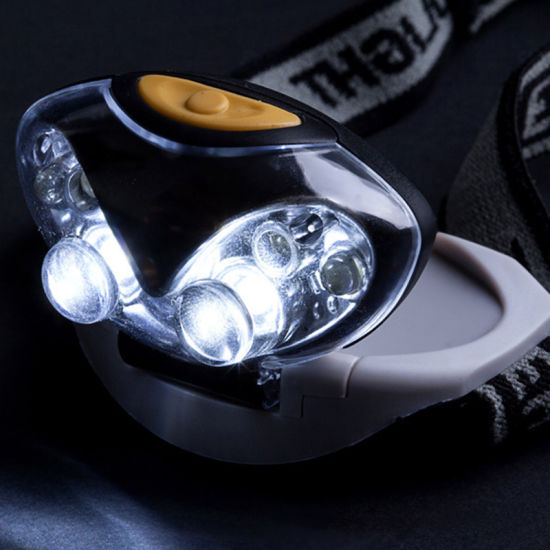 Fishing Camping 6 Led Mini Red White Aaa Battery Headlamp