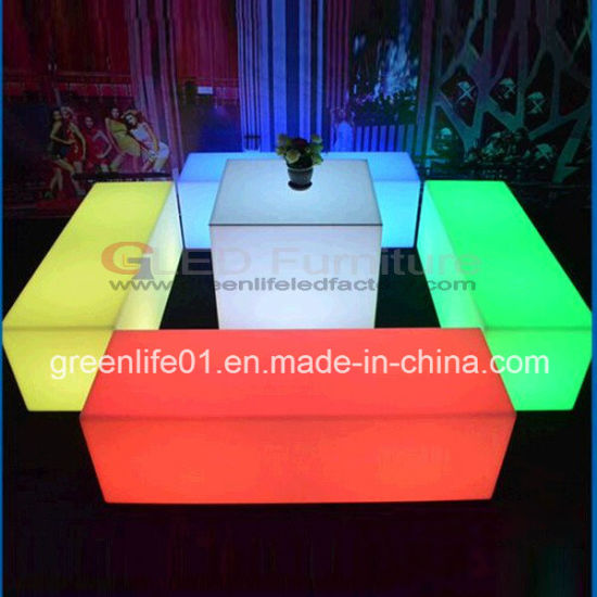 Miraculous China Modern Lit Up Plastic Led Outdoor Chair And Table Set Interior Design Ideas Oteneahmetsinanyavuzinfo