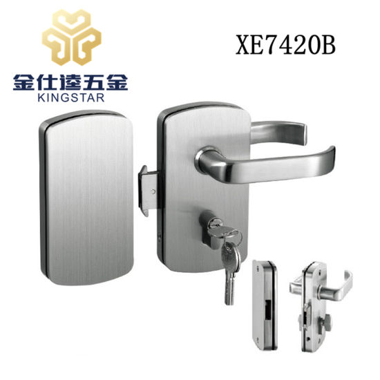 China Double Glass Door Lock For Silding Door With Stop Button