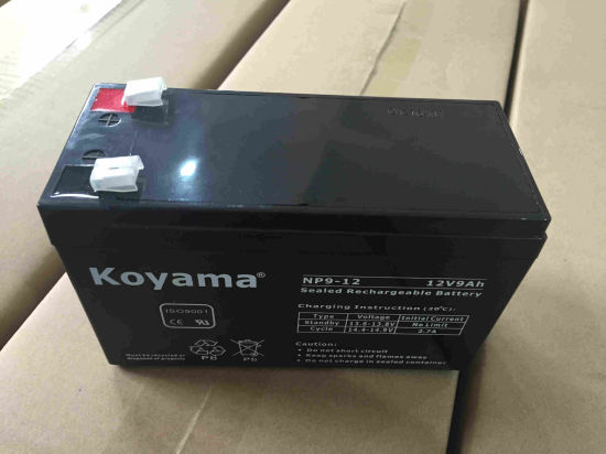 12V 9ah Lead Acid AGM Battery for UPS, Surge Protector, Scooter pictures & photos