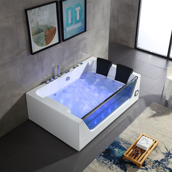Salle De Bains Articles Sanitaires Acrylique Baignoire De Massage Avec Jacuzzi Spa Q411